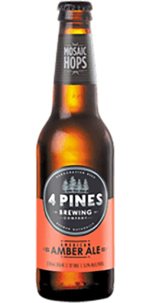 4 Pines Amber Bottle 330ml