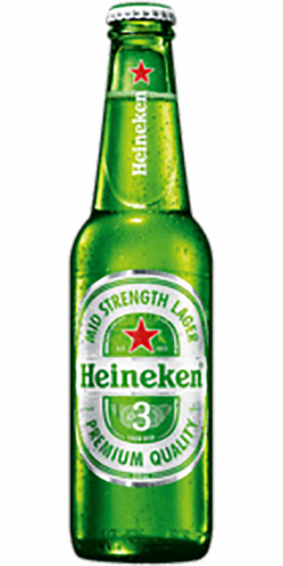 Heineken 3 Lager Bottle 330ml