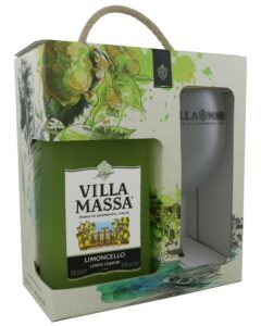 Villa Massa Limoncello & Frosted Glass Gift Pack