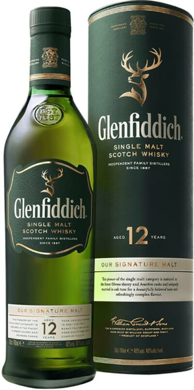 Glenfiddich 12 Year Old Malt 700ml